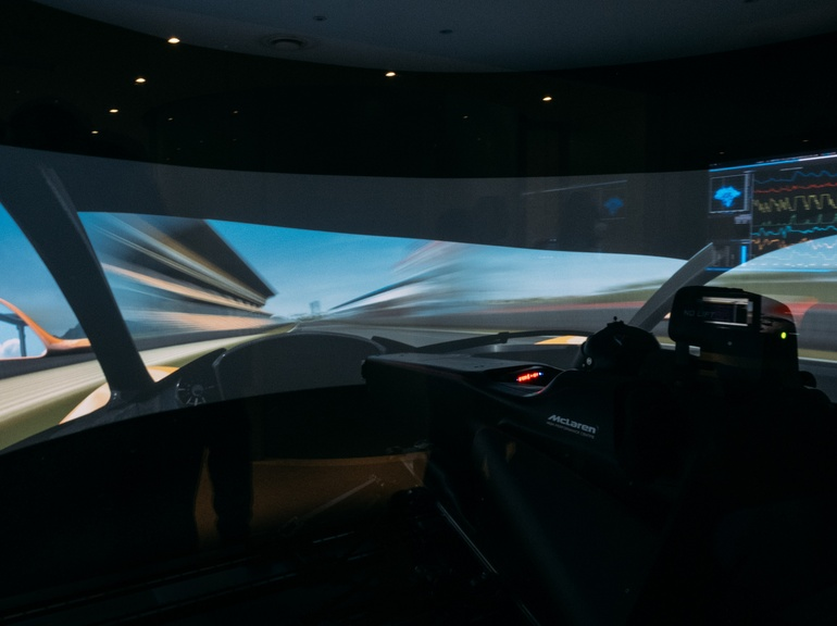 ATLAS is used to monitor car performance in real-time during simulator sessions