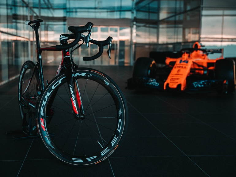 Competition, racing and the combination of athlete and machine are central to McLaren