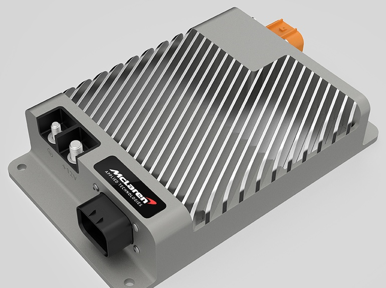 The DC/DC Converter Unit (DCU) converts high voltage from the vehicle traction battery down to 12V