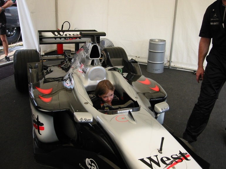 Melanie enjoys the best seat in the house at Goodwood Festival of Speed