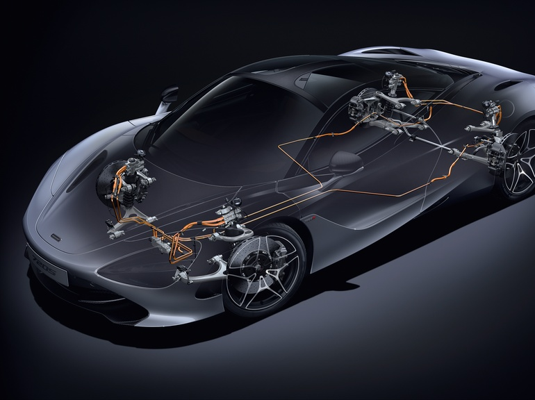 The VDS was integral to the development of the semi-active suspension system used by the 720S