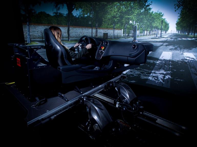 The Vehicle Dynamics Simulator features McLaren's motion algorithms
