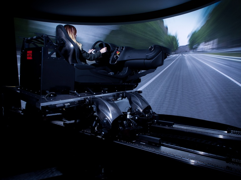The MTS Vehicle Dynamics Simulator features McLaren's motion algorithms