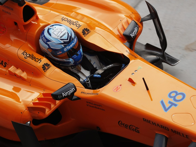 Jimmie put McLaren Applied Technologies steering sensors to the test in an F1 car for a change
