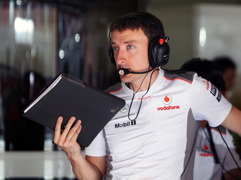 Race Engineer Andy Latham for McLaren F1