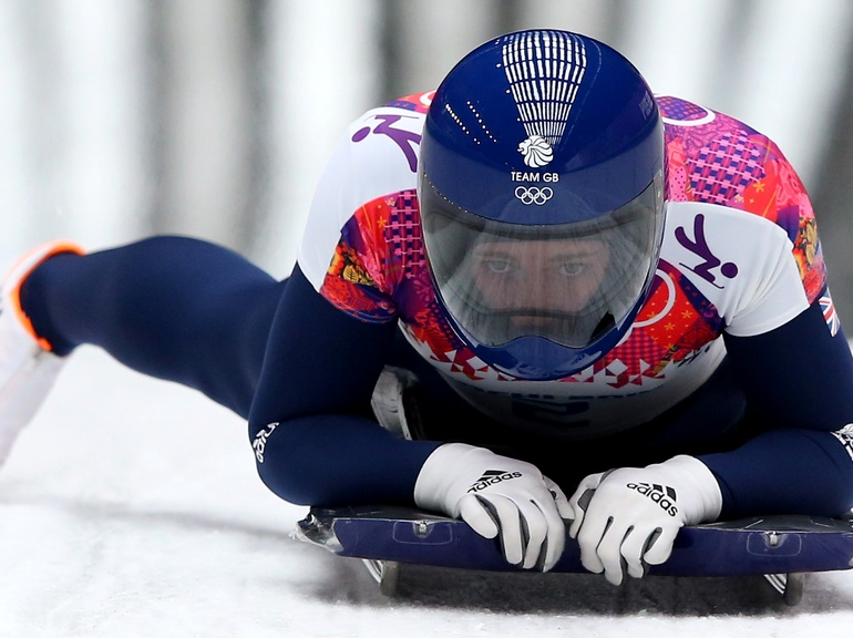 Lizzy Yarnold won gold at the 2014 Winter Olympics in Sochi