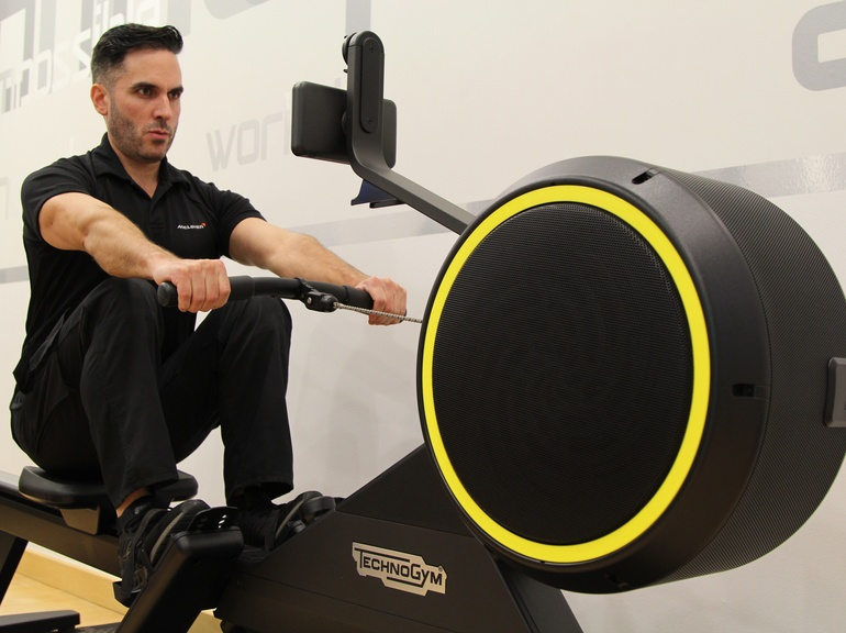 Rowing is a commonly used exercise for cardiovascular training